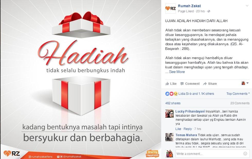 contoh - posting konten rumah zakat